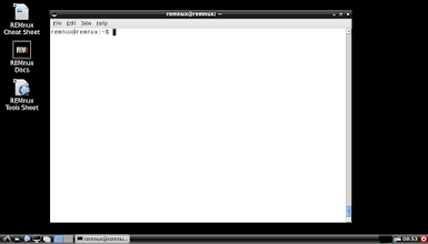 Photo: The majority of REMnux tools are command-line utilities. The distro includes a cheat sheet and a listing of the installed tools to remind people of the available commands and applications.