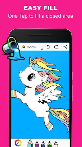 Pony Unicorn Coloring Book  screenshots 2
