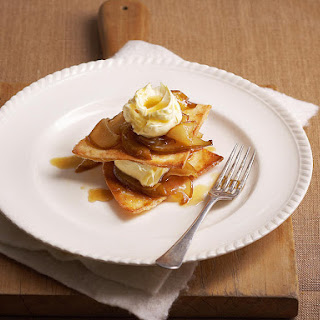 Caramelized Pears with Sugared Tortillas.