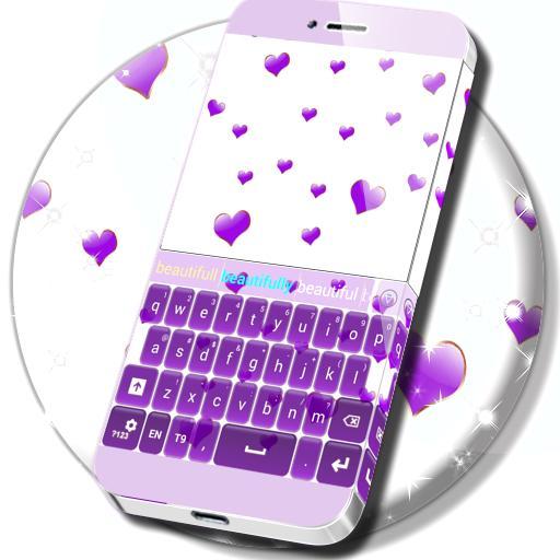 Purple Hearts Keyboard