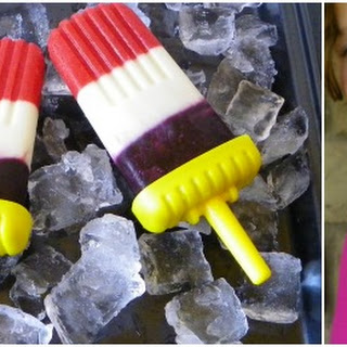 Red, White, and Blue Popsicles.