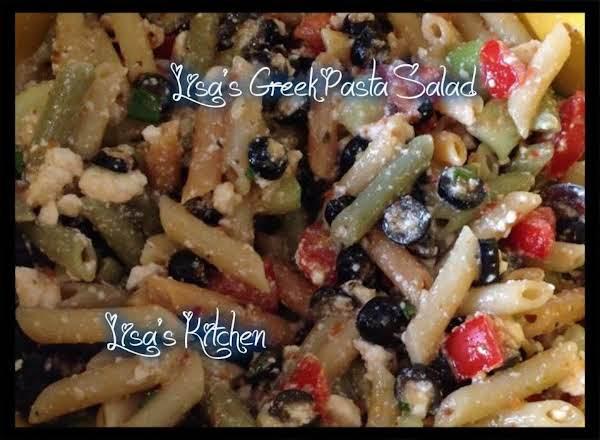 Lisa's Greek Pasta Salad Recipe