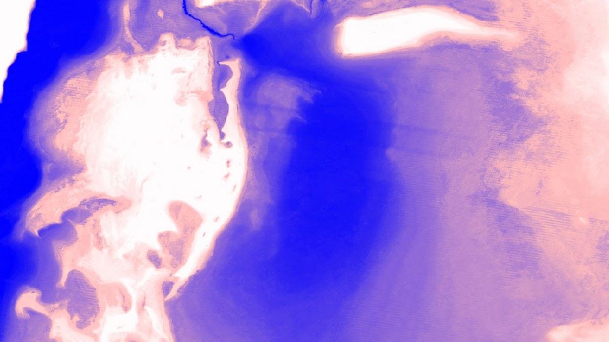 Image abstraite montrant de l'eau sur la Terre