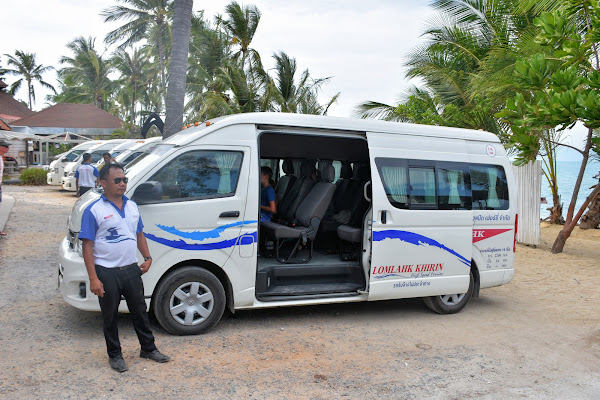 Get picked up by van from your hotel on Koh Samui