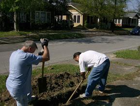 Photo: Sam and Vance, working on irrigation