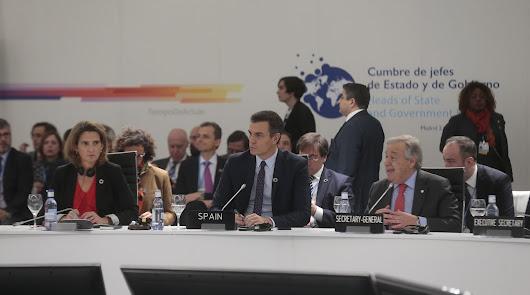 El presidente del Gobierno en fuciones. Pedro Sánchez, ayer en el acto de inauguración en IFEMA,