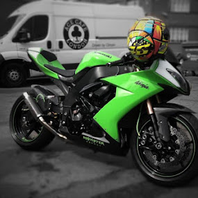 Passion. by Rob Jarvis - Transportation Motorcycles ( motorbike, speed, green, ace, sportsbike, kawasaki, bike, ninja, zx10, superbike, zx10r, cafe, power, 1000 )