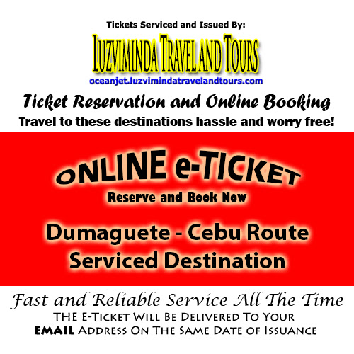 OceanJet Dumaguete-Tagbilaran-Cebu Route Ticket Reservation and Online Booking