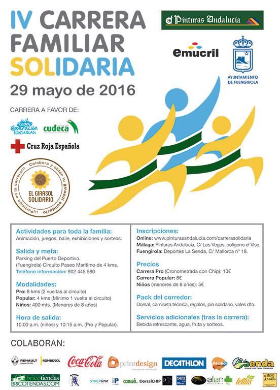 IV Carrera Familiar Solidaria a beneficio de Cruz Roja, Cudeca y Cooperación Honduras