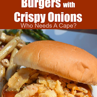 Cheddar Barbecue Burgers with Crispy Onions Recipe