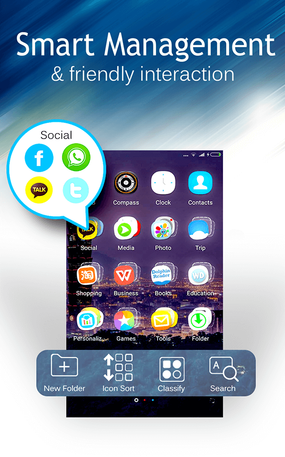 C Launcher: Themes, Wallpapers, DIY, Smart, Clean- screenshot