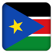 Selfie with South Sudan flag
