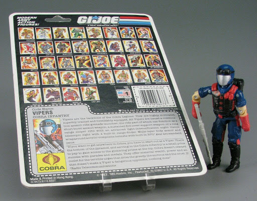 Action figure:G.I. Joe Cobra Infantry: Code Name Viper 1986