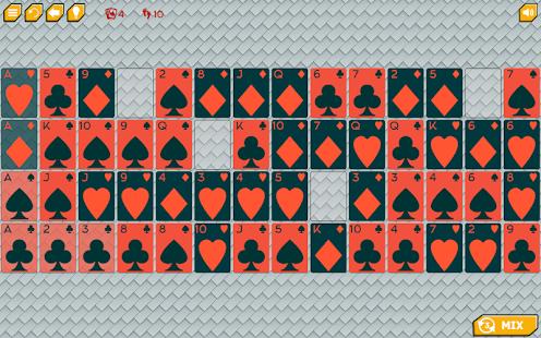 Gaps solitaire Dark cards - náhled