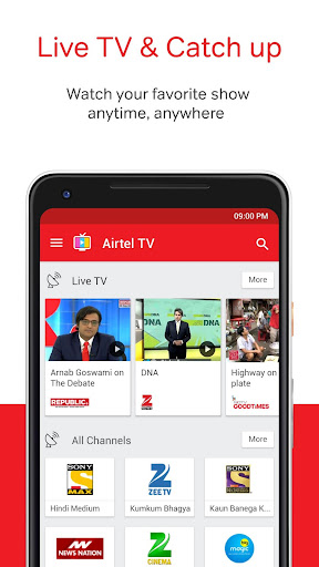 Airtel TV: Movies, TV series, Live TV 1.5.5.4 screenshots 1