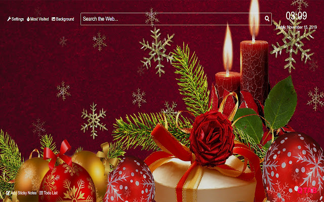 Christmas Decorations Wallpapers HD New Tab