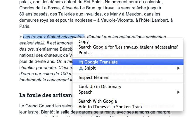 Google Translate Chrome Web Store