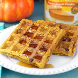 Cranberry Pumpkin Waffles.