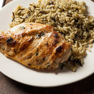 Grilled Chicken Breasts with Easy Lemon Marinade.