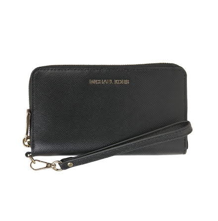 Jet Set: Logo Continental Wristlet, black