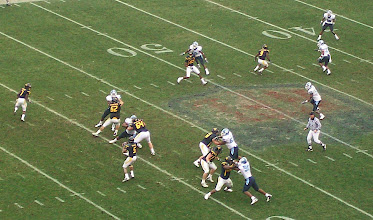 Photo: West Virginia's Pat White is looking for an open receiver.