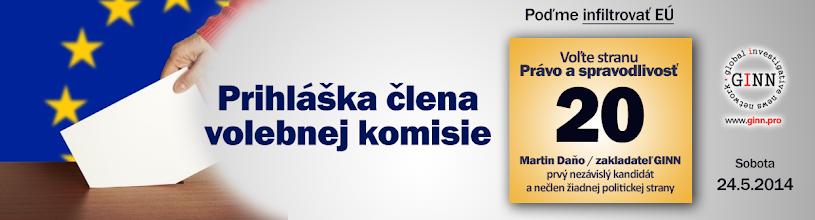 Photo: Mimoriadna príležitosť. Prihláste sa za člena jednej z viac ako 5500 volebných komisií na Slovensku. Príjem 30 EUR + iné bonusy. Vypíšte svoje údaje a vyberte okres, v ktorom chcete byť členom komisie. Prihláška je tu: http://www.ginn.pro/form/euvolby2014-clen