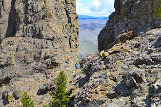 Photo: Side trip on the way down to check out the area between the two peaks that make up the nose.