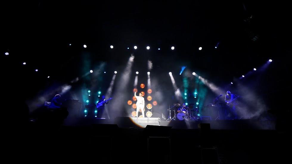 Bisbal con una espectacular puesta en escena durante el concierto