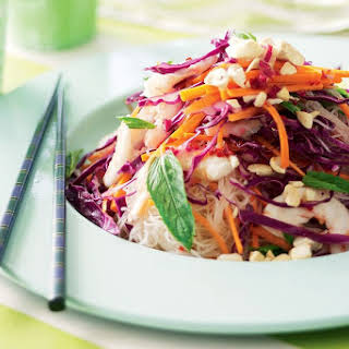 Prawn, Cashew And Mint Salad With Sweet Chilli Dressing.