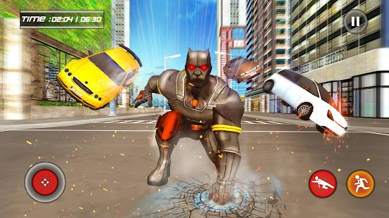 Grand Superhero Panther Flying City Rescue Mission - náhled