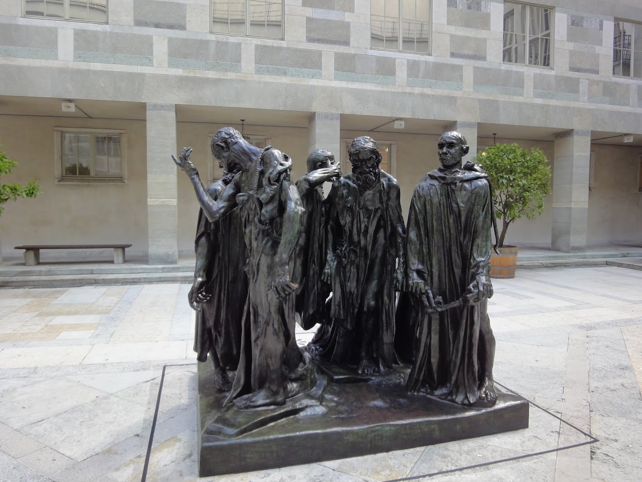 Bourgeois de Calais de Rodin au Kunstmuseum à Bâle