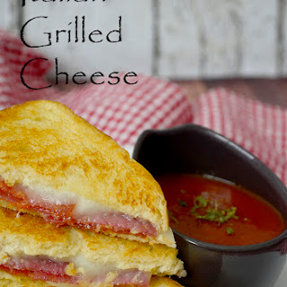 Italian Grilled Cheese with Marinara Dipping Sauce.