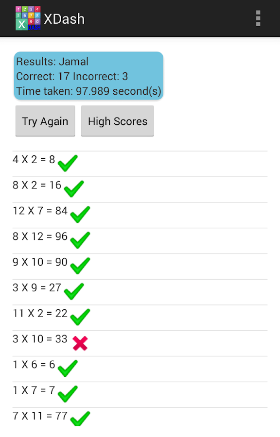 XDash - Multiplication Race- screenshot