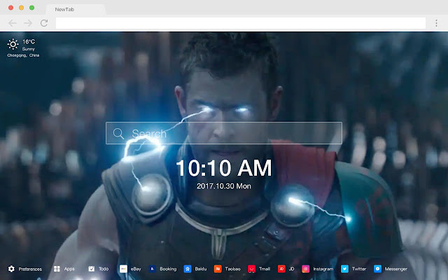 Thor: Ragnarok HD New Tab Movies Themes