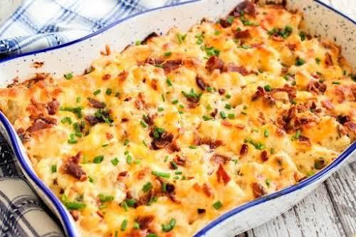 """Loaded Cauliflower Casserole""""Loaded Cauliflower Casserole is steamed cauliflower combined with cream cheese,..."""
