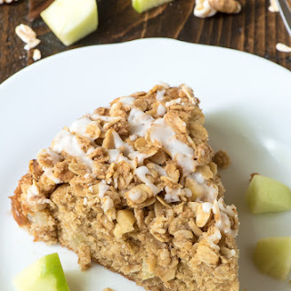 Apple Coffee Cake with Cinnamon Oat Streusel Topping