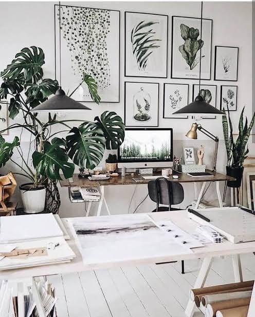 Nature Lover Study Room Design