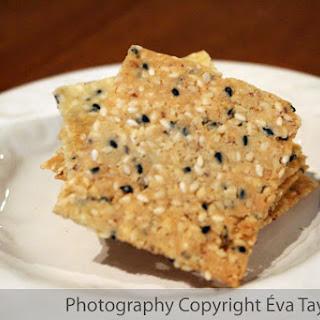Gluten Free Almond Sesame Crackers