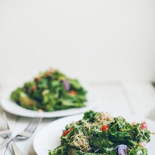 Leafy Sprouts Salad with Sorghum Chili Vinaigrette