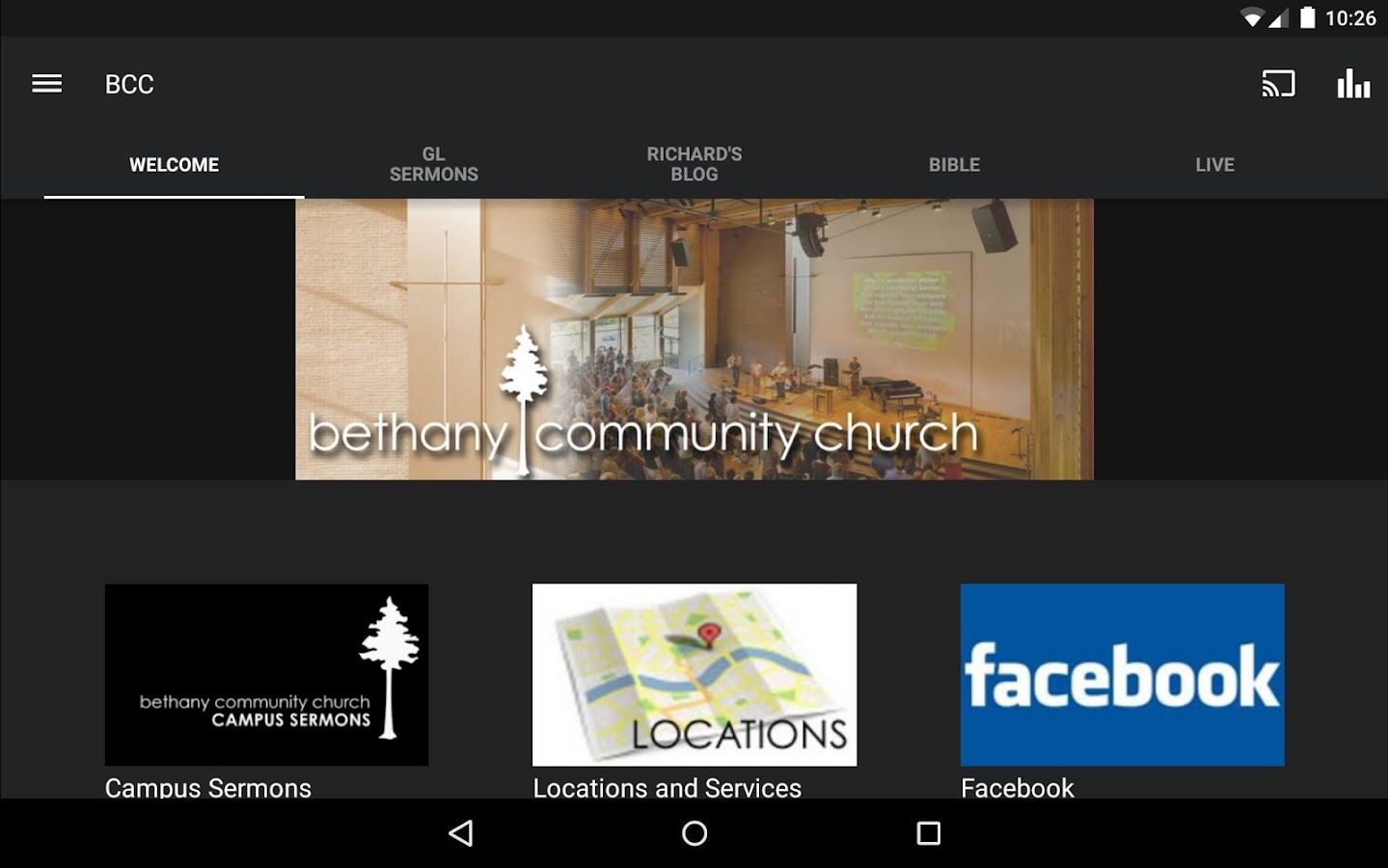 Bethany Community Church- screenshot