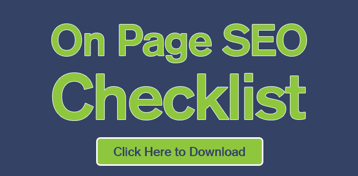 On page SEO checklist - free download