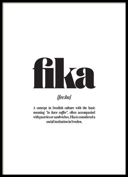 FIKA, POSTER