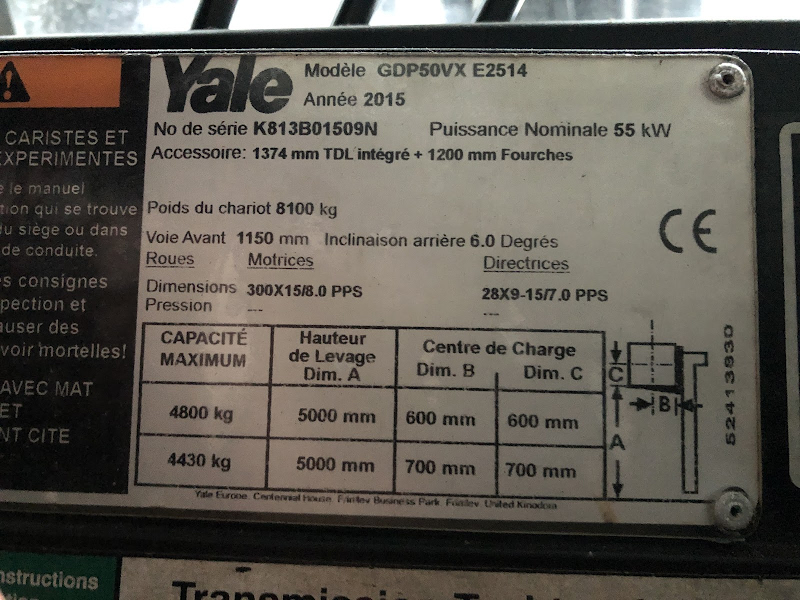 Picture of a YALE GDP50VX
