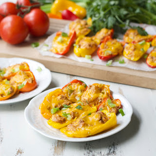 Chipotle Tuna Stuffed Sweet Peppers