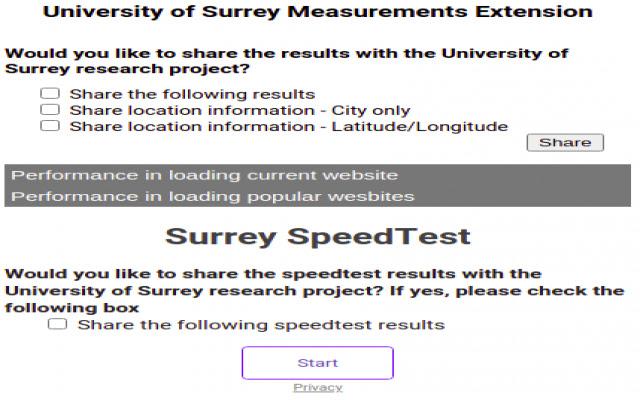 Surrey Uni Browser Plugin