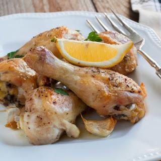 Slow Cooker Dump Lemon And Garlic Chicken.