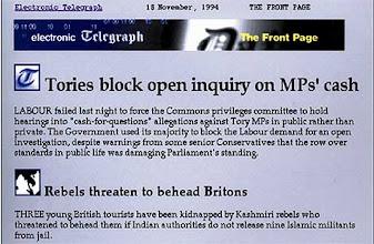 Photo: The (electronic) Telegraph (November 5, 1994)