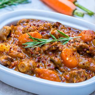 Crockpot Beef + Sweet Potato Stew.