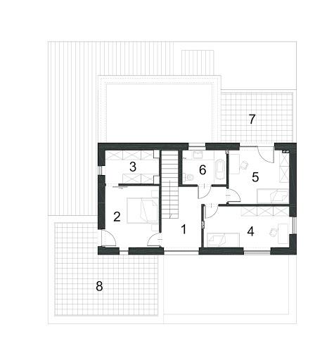 Dopasowany D34 - Rzut piętra