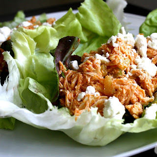 Buffalo Chicken Lettuce Cups